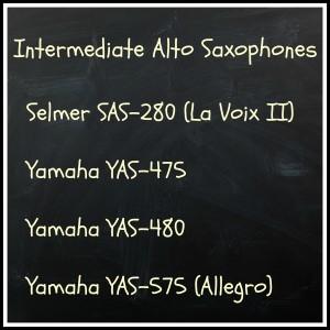 Selmer SAS280 (La Voix II), Yamaha YAS-475, Yamaha YAS-575, Yamaha YAS-480