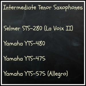 Selmer STS280 (La Voix II), Yamaha YTS-475, Yamaha YTS-575, Yamaha YTS-480