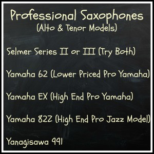 Selmer Super Action 80 Series II, Selmer Super Action 80 Series III, Yamaha EX, Yamaha 62, Yanagisawa 991