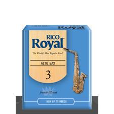 Beginner Saxophone Reeds Rico Royal Blue Box