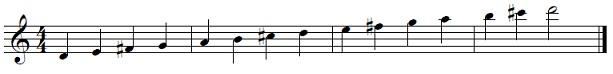 d major saxophone scale