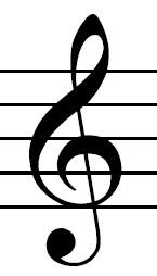 The soprano, alto, tenor, and baritone saxophones play in the treble clef
